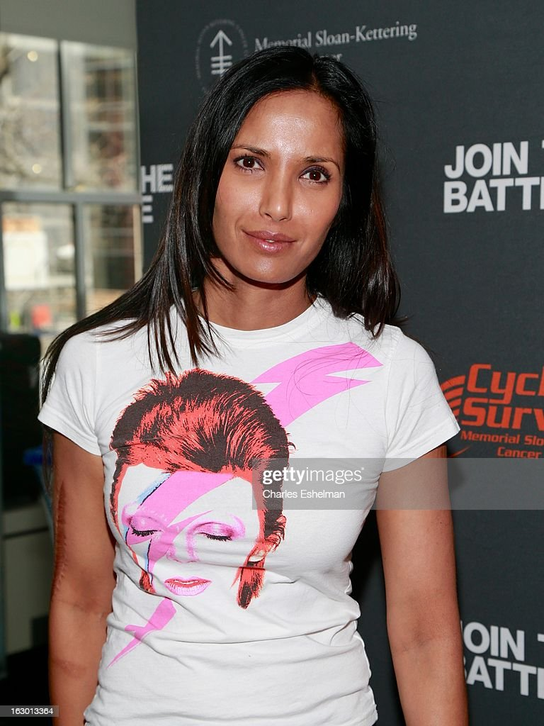 Top Chef host <a gi-track='captionPersonalityLinkClicked' href=/galleries/search?phrase=Padma+Lakshmi&family=editorial&specificpeople=201593 ng-click='$event.stopPropagation()'>Padma Lakshmi</a> attends the 2013 Cycle For Survival Benefit at Equinox Rock Center on March 3, 2013 in New York City.