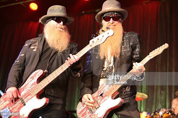 Top Dusty Hill and Billy Gibbons perform at Humphrey's Concerts By The Bay in San Diego California on September 13 2015