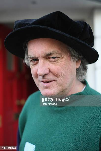 Top Gear presenter James May poses for a photograph outside his home on March 25 2015 in Hammersmith London England Mr May is currently awaiting news...