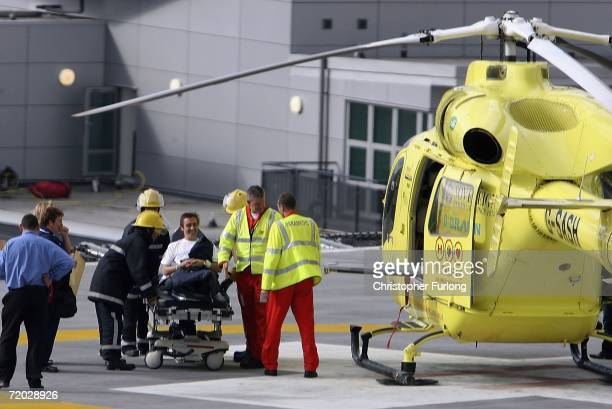 Top Gear presenter Richard Hammond is transferred from Leeds General Infirmary by the Yorkshire Air Ambulance to an unknown destination on September...