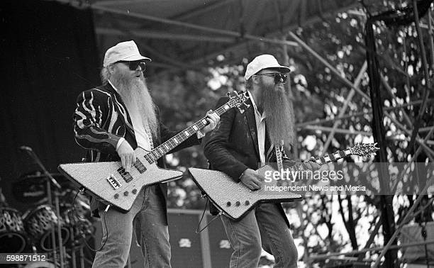 ZZ Top in concert at the RDS Dublin Front men Dusty Hill and Frank Gibbons circa August 1985