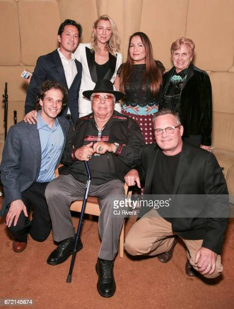 Top Kane Lee Ty Stiklorius guest Bonnie Edmonds Larry Cutler Randy Edmonds and Eric Darnell attend the 2017 Tribeca Film Festival 'Rainbow Crow'...