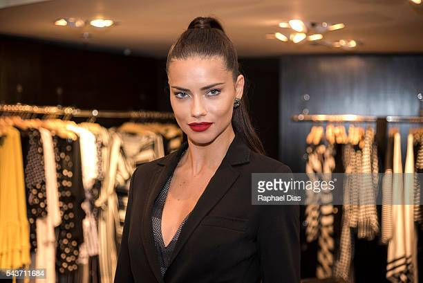 Top model Adriana Lima attends to Le Lis Blanc summer collection launch on June 29 2016 in Rio de Janeiro Brazil
