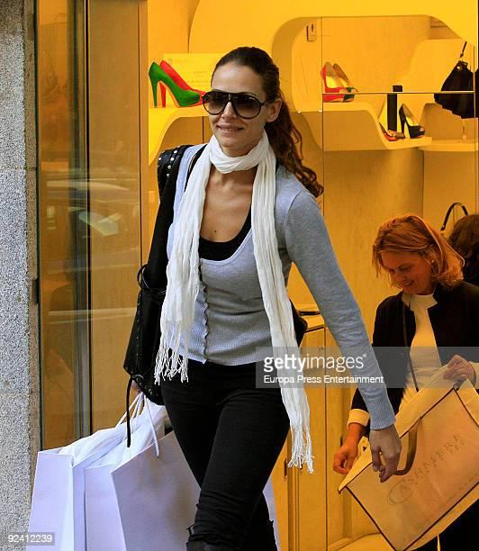 Top model Eva Gonzalez seen shopping on October 27 2009 in Madrid Spain