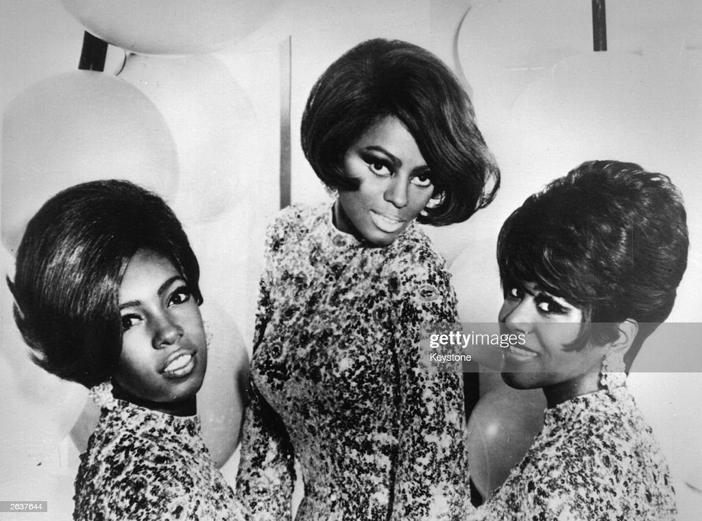 Top Motown soul pop group Diana Ross and the Supremes left to right Mary Wilson Diana Ross and Cindy Birdsong 1968