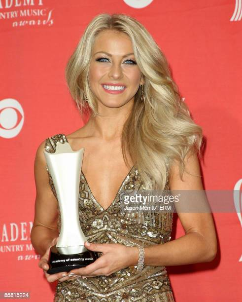 Top New Artist award winner Julianne Hough poses in the press room during the 44th annual Academy Of Country Music Awards held at the MGM Grand on...
