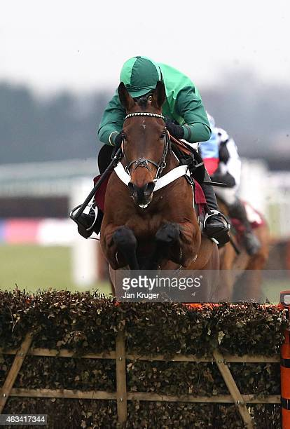 Top Notch ridden by Daryl Jacobs wins during the Betfred ÒSix Best Odds Races DailyÓ Victor Ludorum Juvenile Hurdle Race at Haydock Races on February...
