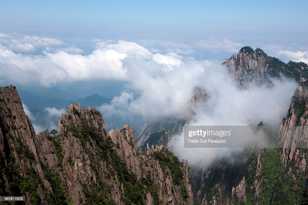 Top of Huangshan mountain Anhui Province