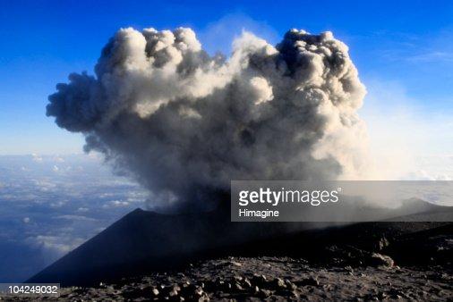 Top of the Semeru volcano