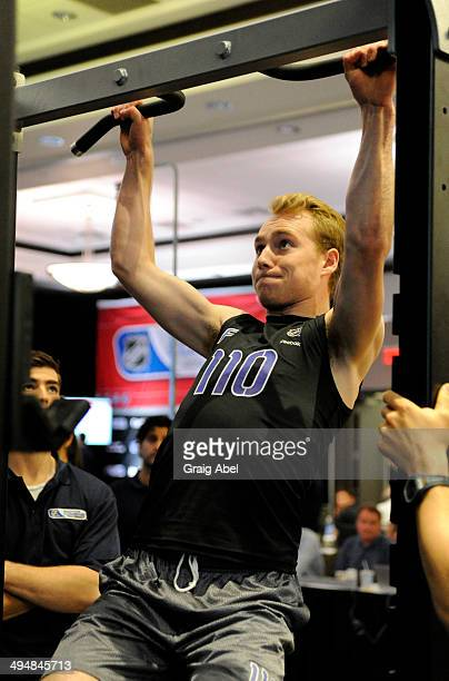 Top prospect Samuel Bennett takes part in testing at the NHL Scouting Combine May 31 2014 at the International Centre in Toronto Ontario Canada