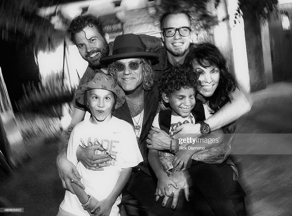 Christopher Carothers, Cameron Crothers. Middle row: Big Kenny Alphin, Christiev Alphin. Bottom row: Lincoln Alphin and Dakota Alphin. Husband and Wife team Kenny Alphin aka 'Big Kenny' of Country Rock group Big & Rich along with Christiev Alphin Creative Director/Wardrobe Stylist Everything Visual host TLC Screening of Big Kenny and Family at there private resdence on August 27, 2015 in Nashville, Tennessee.