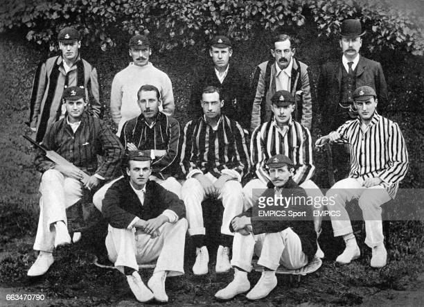 Top row left to right Ted Dillon Fred Huish Punter Humphreys Percy Baker Hearne Middle row left to right Sam Day Bill Bradley Jack Mason Cuthbert...