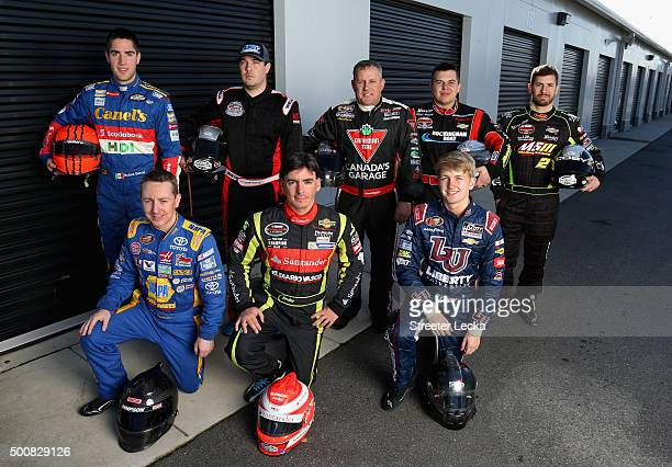 Top Ruben Garcia Jr Lee Pulliam Scott Steckly Andy Seuss Doug Coby Bottom Chris Eggleston Ander Vilarino and William Byron pose for a portrait during...