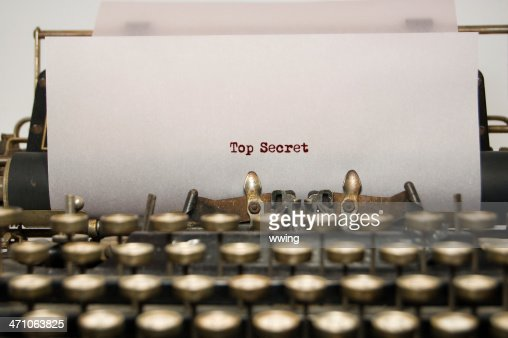 Top Secret on antique typewriter