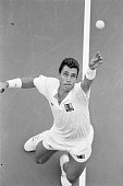 Top seed Ivan Lendl serves to unseeded Jay Berger during their second round match at the US Open Lendl defeated Berger 62 64 61 and advanced to the...
