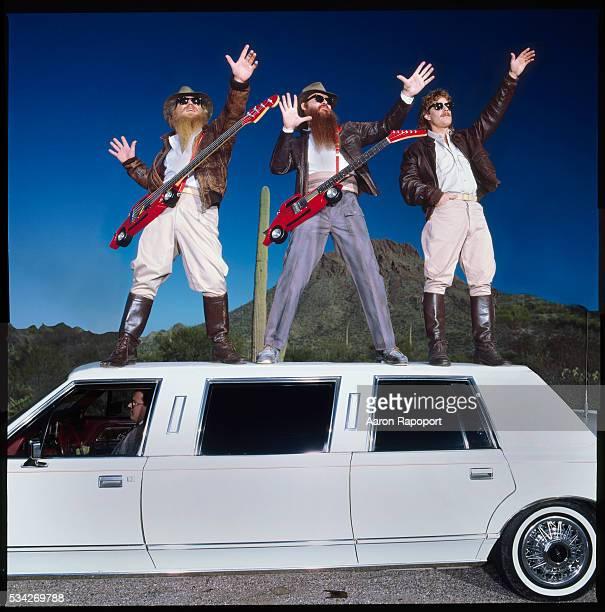 ZZ Top shot for Rolling Stone Magazine in1985 near Tucson Arizona