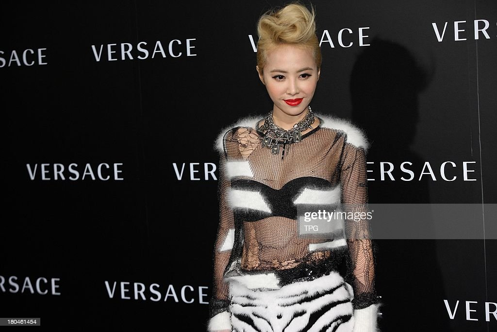 Top star Jolin Tsai attends press conference of SWAROVSKI on Thursday September 12,2013 in Beijing,China.