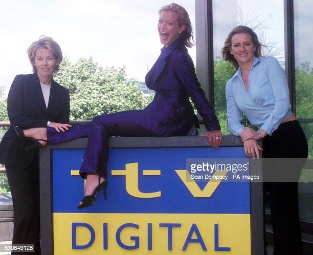 Top telly stars Gabby Yorath Tracy Shaw Mary Nightingale celebrate the launch of ITV Digital in London The service is jointly owned by Carlton and...