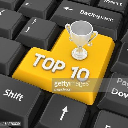 top ten enter key