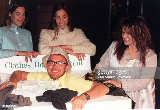 Top twin models Nifa and Nishan help Wayne Hemingway of Red or Dead and Elizabeth Emanuel who made Princess Diana's famous wedding dress to launch...