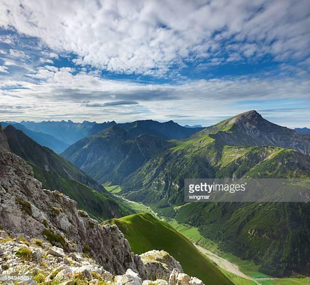 top view from mt. falschkogel in tirol, austria