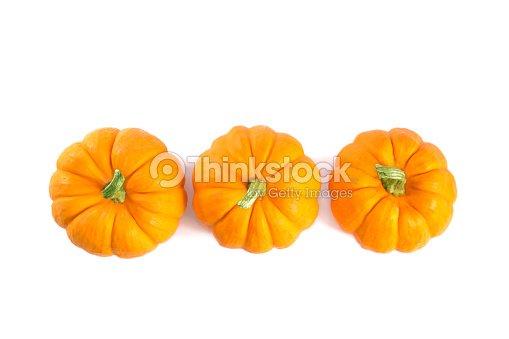 Top view of decorative orange pumpkins : Stock Photo