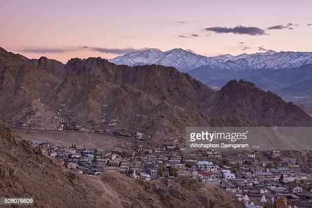 Top view of Leh City, India
