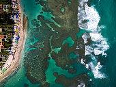 Top View of Porto de Galinhas, Pernambuco, Brazil
