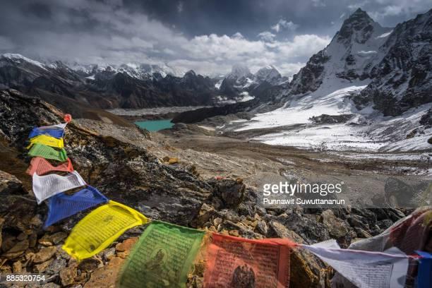 Top view of Renjo la pass, Everest region, Nepal