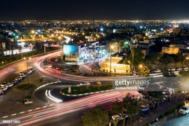 Top view of Shiraz by night, Iran