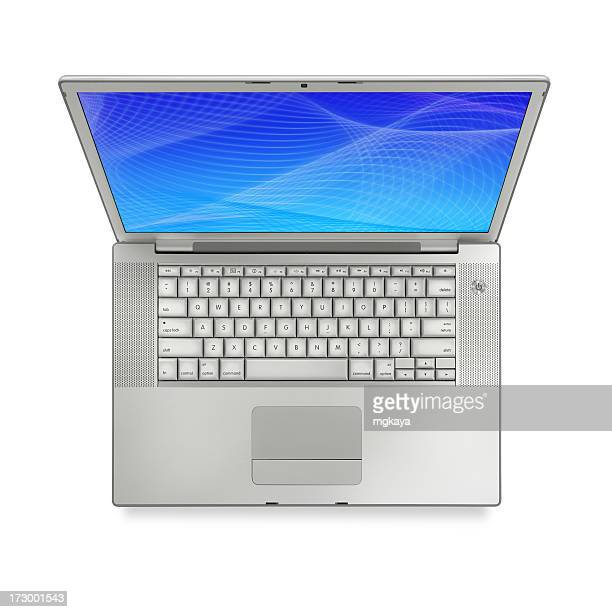 Top View of Silver Laptop