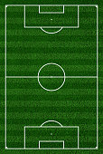 Top view of soccer field or football court.