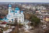 View from the bell tower of Borisoglebsky Monastery, Torzhok, Russia