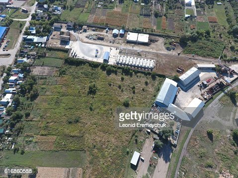 top view of the industrial equipment : Stock Photo