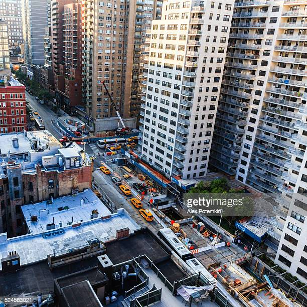 Top view of the Manhattan's street