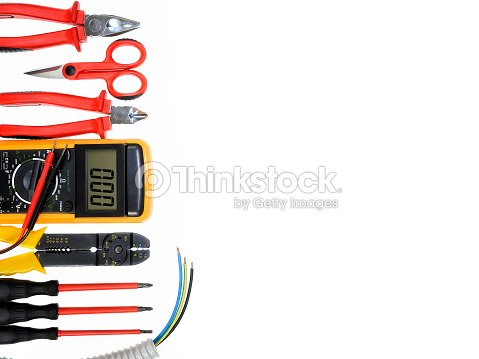 Outstanding Top View Of Work Tools For Residential Electrical Installation On Wiring Digital Resources Spoatbouhousnl