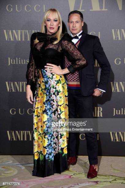 Topacio Fresh and Israel Cortes attend the gala 'Vanity Fair Personality of the Year' to Garbine Muguruza at Ritz Hotel on November 21 2017 in Madrid...