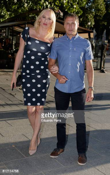Topacio Fresh and Israel Cortes attend the 'Pet Shop Boys' concert at Royal Theatre on July 10 2017 in Madrid Spain