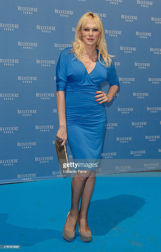 Topacio Fresh attends Belvedere Vodka party photocall at Principe Pio train station on March 20, 2014 in Madrid, Spain.