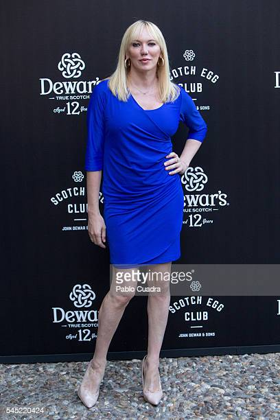 Topacio Fresh attends the Dewar's Scotch Egg Club opening party at the Real Fabrica de Tapices on July 6 2016 in Madrid Spain
