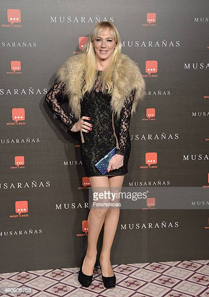 Topacio Fresh attends the 'Musaranas' Premiere at the Capitol Cinema on December 17 2014 in Madrid Spain