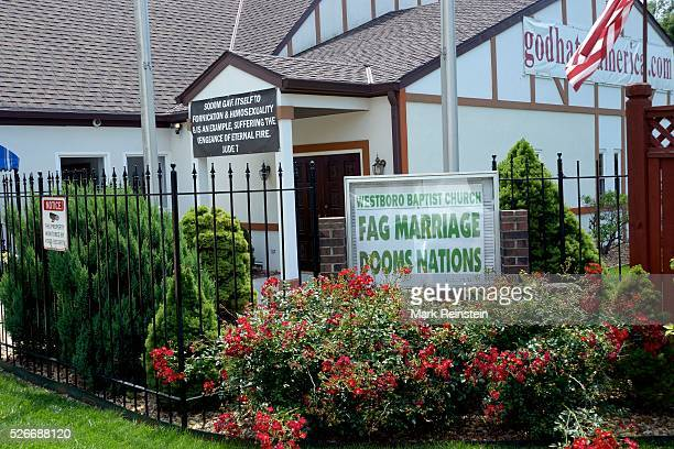 Topeka Kansas 672015 Signs posted at the Westboro Bptist Church today in response to JK Rowling's tweet about marriages Gandalf The White and Albus...