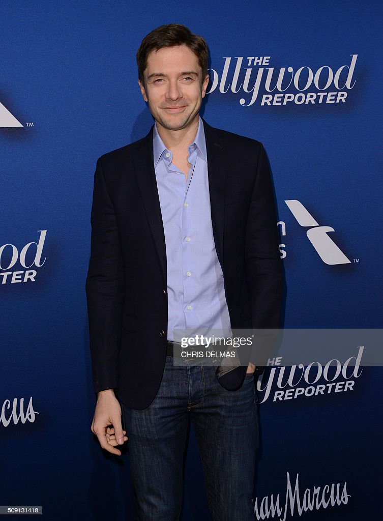 Topher Grace arrives for the Hollywood Reporter's 4th Annual Academy Awards Nominees Night in Beverly Hills, California, February 8, 2016 / AFP / CHRIS DELMAS