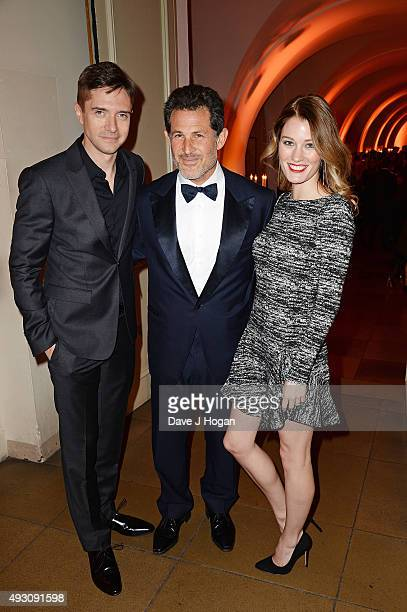 Topher Grace Josh Berger and Ashley Hinshaw attend the BFI London Film Festival Awards at Banqueting House on October 17 2015 in London England