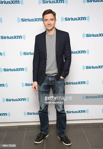 Topher Grace visits at SiriusXM Studios on November 3 2015 in New York City