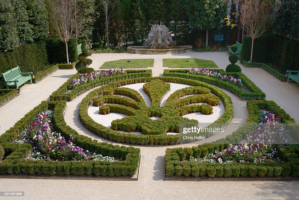 topiary garden hotel de caumont aixenprovence stock photo. Black Bedroom Furniture Sets. Home Design Ideas