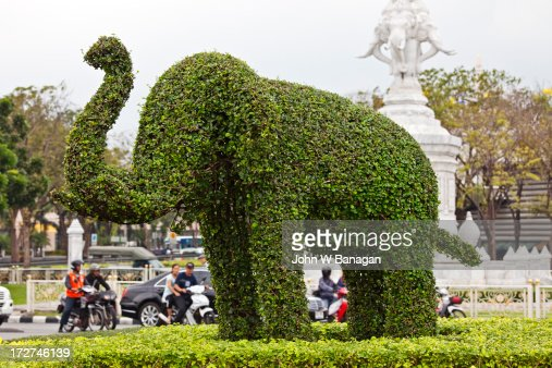 Topiary of  elephant, Bangkok