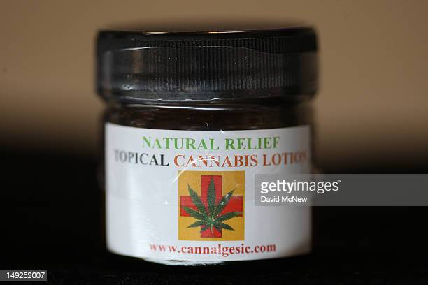 A topical lotion made of marijuana is seen at Perennial Holistic Wellness Center medical marijuana dispensary which opened in 2006 on July 25 2012 in...