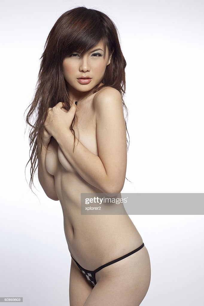 Topless asian model