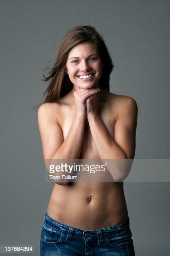 Topless woman : Stock Photo